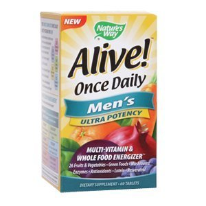 Nature's Way Alive Once Daily Men's Multi Ultra Potency, Tablets, 60-Count