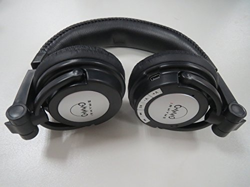 IRHYME s DE711 Black Bluetooth Headphones, with Seamless Switch Between Music and Taking Calls.