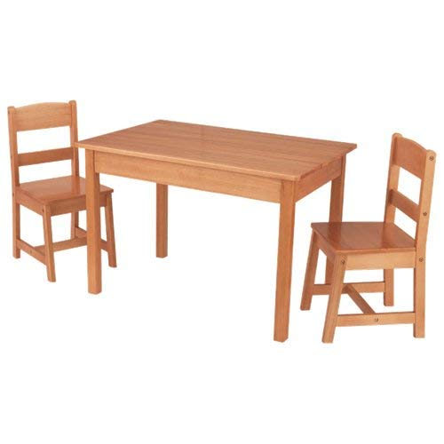 KidKraft Rectangle Table And 2 Chair Set - Natural