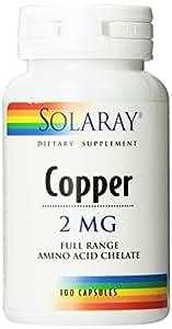 Solaray - Copper 2 mg. - 100 Capsules