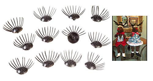 144Ct Bulk Plastic Fake Doll Eyelashes for Craft (Size: 8mm, Color: Black) Ideal for Craft Projects, Doll & Teddy Bear Making from J&J's ToyScape