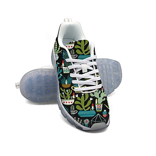 Faaerd Gnomi Succulente Cacti Terrario Mens Moda Scarpe Da Ginnastica In Mesh Leggero Cuscino Daria Scarpe Da Corsa