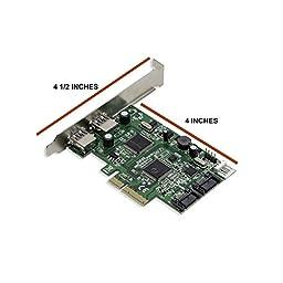 Syba SD-PEX50055 2 Port USB 3.0 and 2 Port SATA III PCIe 2.0 X4