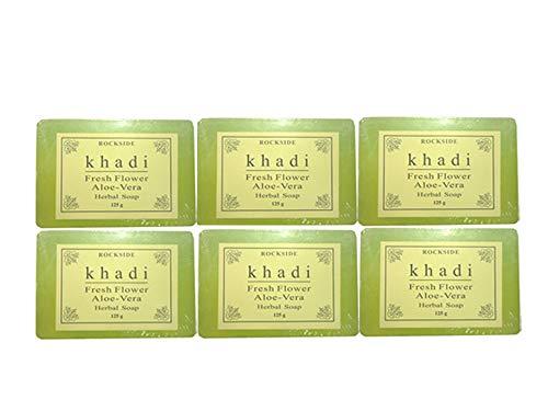 思われるどっちサンダー手作り カーディ フレッシュフラワー2 ハーバルソープ Khadi Fresh Flower Aloe-Vera Herbal Soap 6個SET