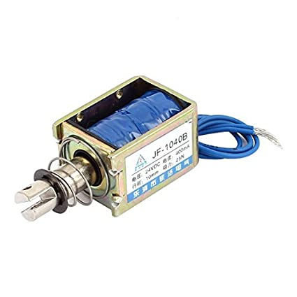 eDealMax JF-1040B DC24V 400mA 10mm empuje 25N Tire electroimán del solenoide del imán