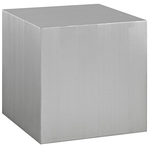 - Modway Cast Contemporary Modern Cube Stainless Steel Side Table