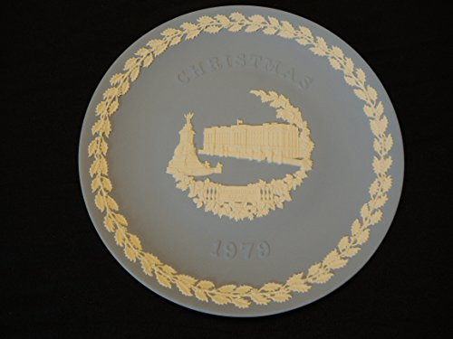 - Wedgwood Blue Jasper Ware Christmas Plate Buckingham Palace 1979