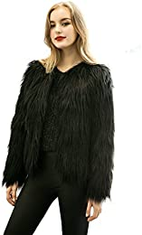 Amazon.com: Black - Fur & Faux Fur / Coats Jackets & Vests