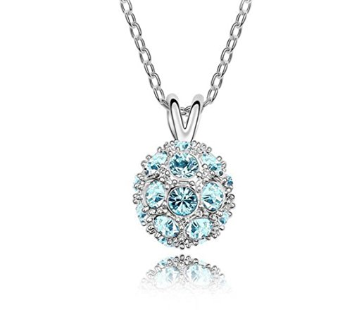 Bling Jewelry Pendant Inspired by Shamballa Jewels Clear Crystal, 4 (Fireball Pendant)