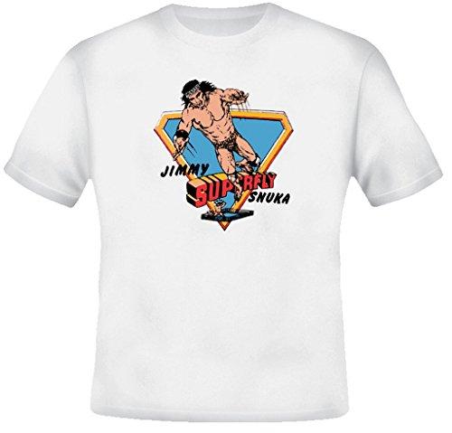 Jimmy Superfly Snuka Retro Wrestling T Shirt Xl White
