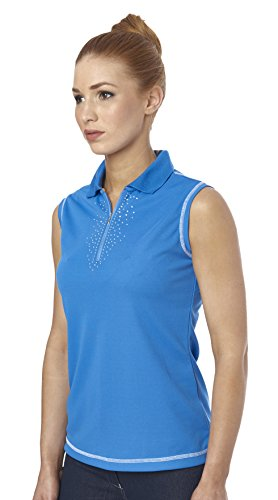 Just Togs Jessica de mujer sin mangas polo Tops Blue/Blue