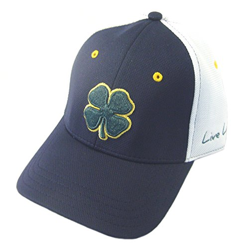 Black Clover Fitted Hat Premium Clover 50 Large Navy