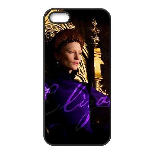 Elizabeththe Golden Age 6 coque iPhone 5 5S cellulaire cas coque de téléphone cas téléphone cellulaire noir couvercle EOKXLLNCD23463