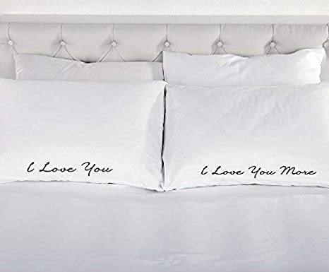 Federe Per Cuscini San Valentino.I Love You More Coppia Di Federe Federa Del Cuscino Da Regalo San