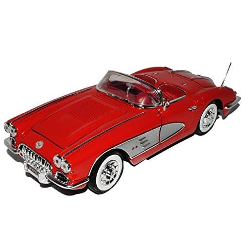 Motormax Chevrolet Chevy Corvette C1Cabrio Rouge 1953–19621/18Moteur Max Modèle Voiture