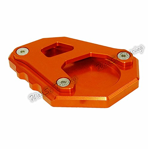 waase Motorcycle Kickstand Foot Side Stand Extension Pad Support Plate For KTM 1050 1090 1190 1290 Adventure (Orange) by waase (Image #3)