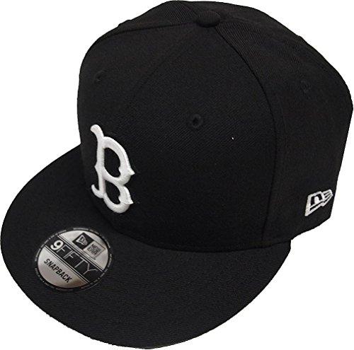 New Era Black White Logo Snapback Cap 9fifty