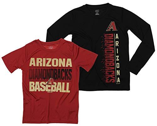 - Outerstuff MLB Boys Young Baseball Fan Two Performance T-Shirt Set, Arizona Diamondbacks, Large 14-16