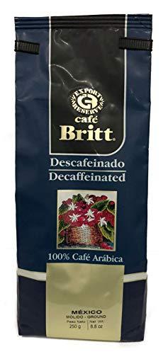 Britt Café Descafeinado Molido de México, 250 g