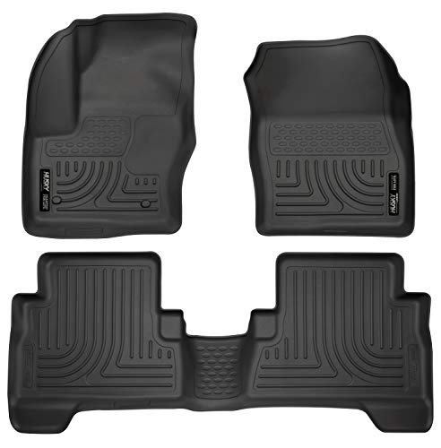- Husky Liners 99741 Black Weatherbeater Front & 2nd Seat Floor Liners Fits 2013-2019 Ford C-Max, 2013-2019 Ford Escape
