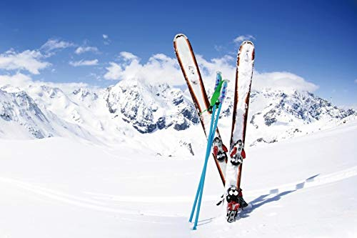 Yeele 7x5ft Winter Background for Photography Snowboard Alps White Snow Mountain Summit Ski Sport Backdrop Boy Kid Adult Portrait Photo Booth Shoot Studio Props Vinyl Wallpaper (5 Ft Snowboard)