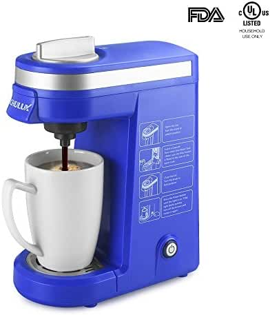 CHULUX Coffee Maker Machine for K Cup Capsule,Single Serve Brew System,Blue