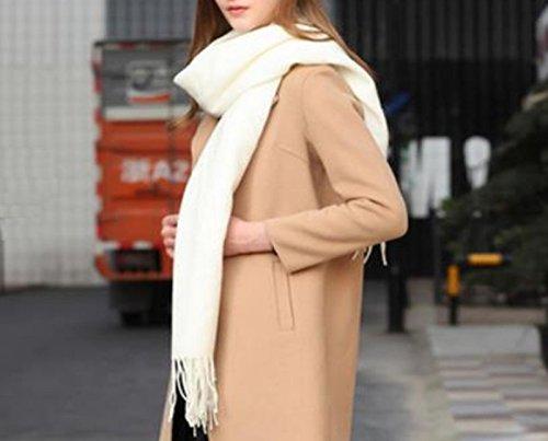 14. Blanc  écharpe foulard unisexe phosphorescent en cachemire personnalisé diffusant de parfum, premium