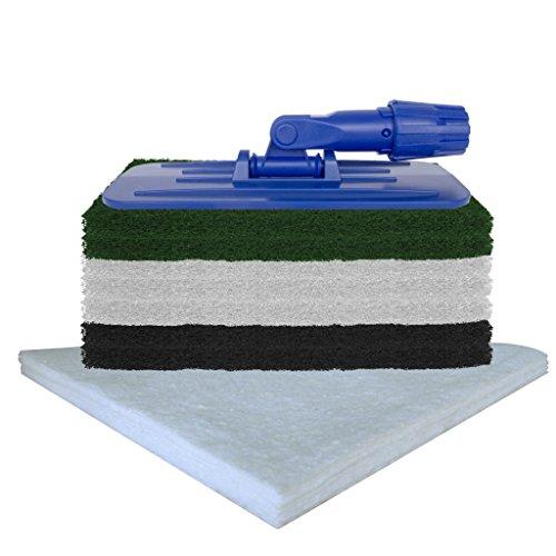 Padhalter mit Stielaufnahme für Woca Superpad und Normalpad 250 x 115 mm inkl. 7x Superpad + 10x Ölsaugtücher