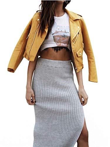 Cappotto Con Invernali Giacca Similpelle Casual Outerwear Rosa Inclusa Abbigliamento Donna Cintura Autunno Manica In Coat Targogo Elegante Pelle Cerniera Ragazza Corto Di Lunga Bavero wWUzcXdzqC