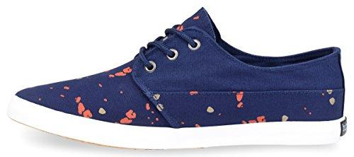 Hipster Mens Swag Splatter Chaussure Bleu Marine