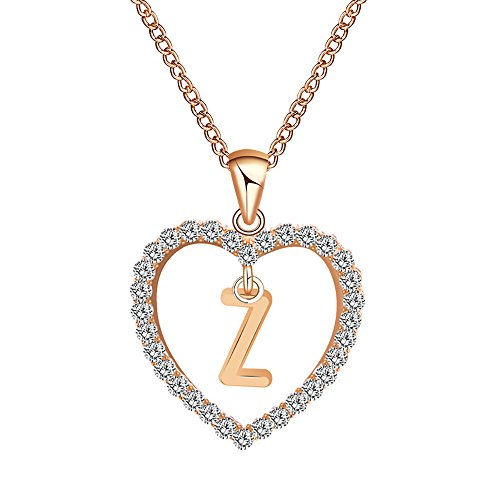Golden 10mm Pearl Necklace 18 - Gbell Fashion Girls Women A-Z Letters Necklaces Charms,26 English Alphabet Name Chain Pendant Necklaces Jewelry Birthday Gifts, Ideal for Party Costume,Wedding,Engagement (Z)