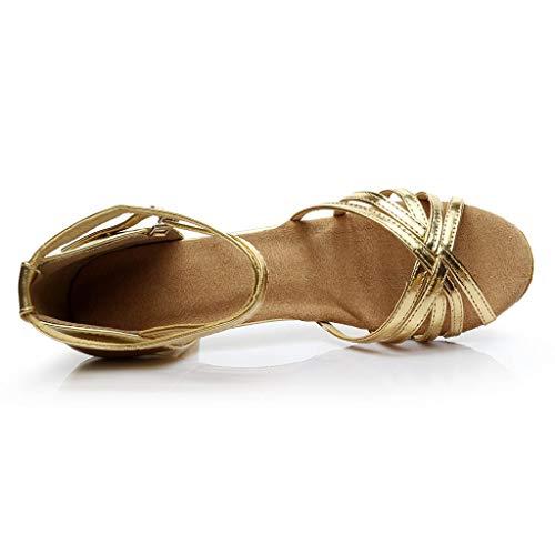 Danza Invierno Tacón Oro a Lentejuelas Elegantes Mujer Latino Plateados Bajo Sandalias Vestir Dorados Tallas Española Baile Moderna Zapatos Para De Primavera Grandes Paolian Fiesta Boda xvSg00