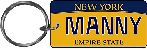 (Personalized New York 2010 State Replica License Plate Keychain)