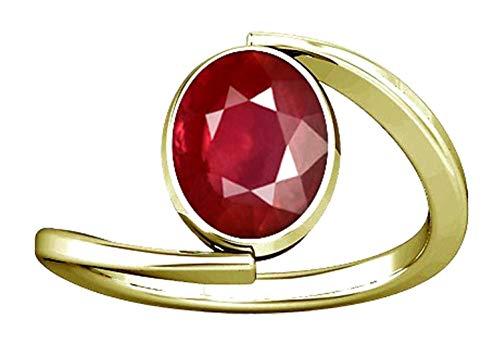 (Divya Shakti 9.25-9.50 Carats Ruby Ring (Maanik/Manikya Stone Panchadhatu Ring) 100% Original Natural AAA Quality Gemstone for Women (10.5))