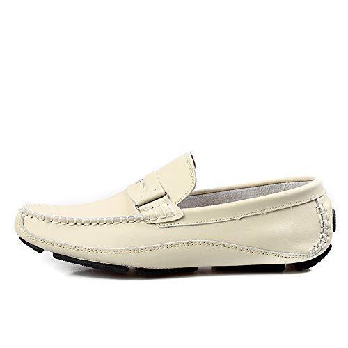 Negro 24 Confortables Blanco Blanco Gommino bajo Zapatos Gommino 27 Cuero de de Corte Zapatos Zapatos genuinos Barco Mocasín Tamaño de de Hcwtx Negocios 0cm 5cm Mocasín de Pisos qxTgHASwn