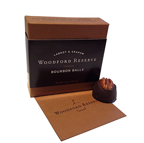 4 Woodford Reserve Bourbon Ball Gift Boxes: 4 pc in each (16 candies) - Chocolate Bourbon Balls