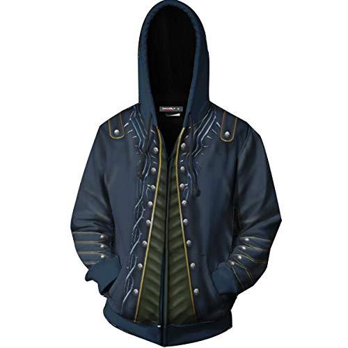 HonRmon Film Devil May Cry 5 3D Print Hoodie Dante Ner-o Cosplay Costume Sports Thin Jacket (Small, 02)]()