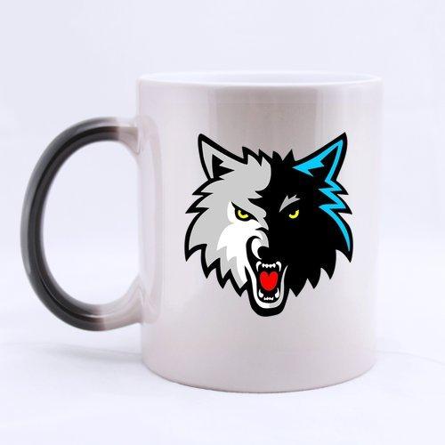 Cool Wild Animal Wolf Head Roar Custom Morphing Coffee Mug Tea Cup 11 OZ Office Home Cup (Printed on two sides)