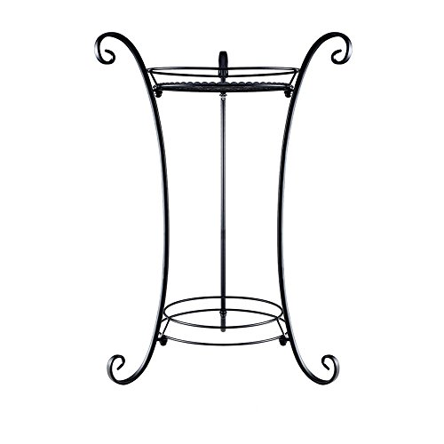 Plant Stand/Plant Stand with Finial (Black) (Iron Plant Stand)