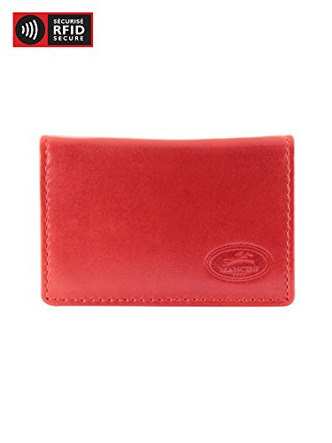 - Mancini Leather Goods Inc Men's Top Grain Polished Drum Dyed Leather RFID Secure Expandable Credit Card Case 4