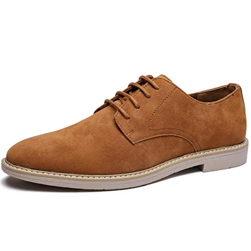 Men's Suede Oxford Casual Shoes (10, Brown-25)