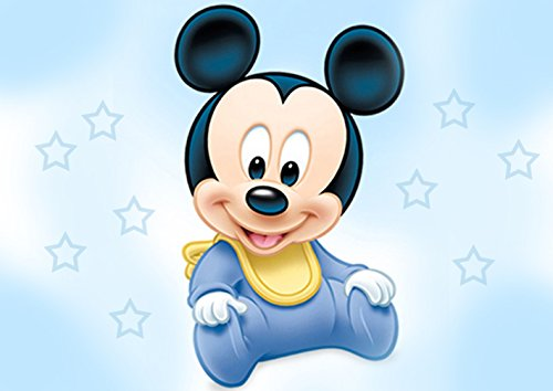 Baby Mickey Mouse Shower Edible Cake Topper Frosting 1/4 Sheet Birthday -