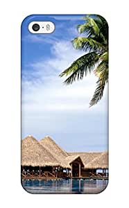 Cute Appearance Cover/tpu WhMcUDl15206GMdle Beach Huts Case For Iphone 5/5s