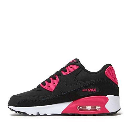 Nike Air Max 90 LTR(GS) Big Kid's Shoes Black/Pink Prime/White 833376-010 (7 M - Pink Air Max Nike