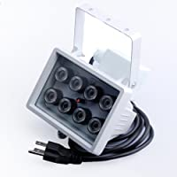 Okeba AC 110V 8 LED Night vision IR Infrared Security Illuminator Light CCTV Camera 80m(262 FT) 60° Angle Visual Range