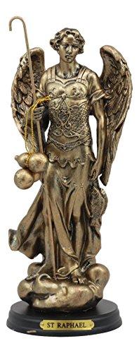 Ebros Byzantine Catholic Church Archangel Raphael With Staff And Healing Oil Statue 8