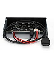 USB 3.1 Front Panel Hub, Stable Performance Optical Drive USB3.0+2.0+Type-C Type-E Panel Computer Parts Practical Type-E Panel for Computer Case