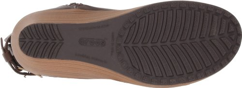 Crocs A-Leigh Leather Boot W - Botas de cuero mujer Marrone (Espresso/Walnut)