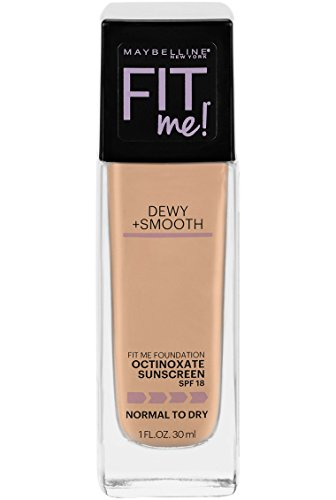 Maybelline Fit Me Dewy + Smooth Foundation, Natural Beige, 1 Ounce (Packaging May Vary)