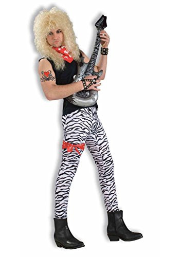 80s Outfit Male (Forum Novelties Men's 80's To The Maxx Zebra Pants Costume, Black/White, One)